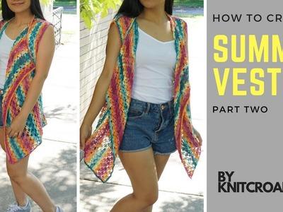 How to crochet Summer Vest - Part 2
