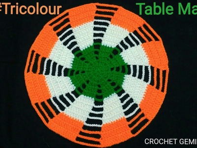 How to Crochet Tablemat. Placemat. Runner  #Vinkam   लोकरी चा #रूमाल  Woolen Thalposh Designs  Doily