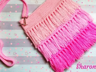 How to Crochet the Triple Layered Fringe Bag