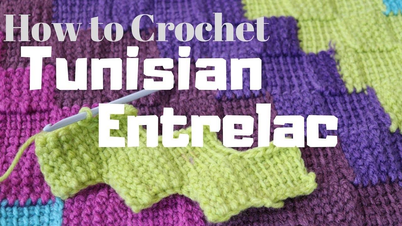 How to Crochet Tunisian Entrelac Variation | TuTu Ep 51