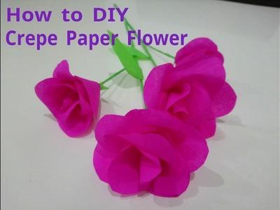 How to DIY Crepe Paper Flower Tutorial
