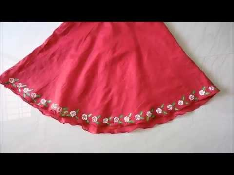 How to do vegetable Printing on Frock | DIY Art | Fabric Paint
