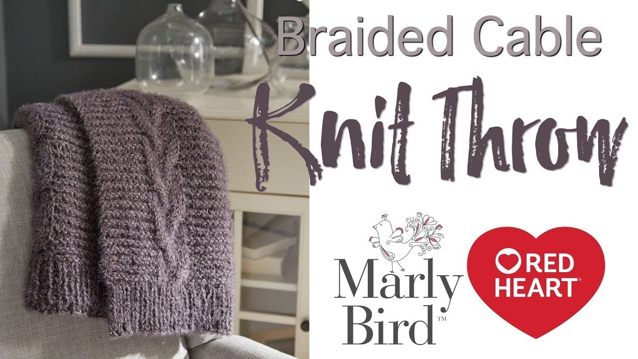 How to Knit Hygge Braided Cable Knit Throw