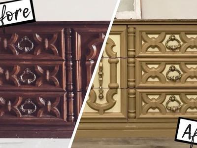 How to Liquid Sand Furniture | Dresser Transformation | Before & After DIY | Ashleigh Lauren