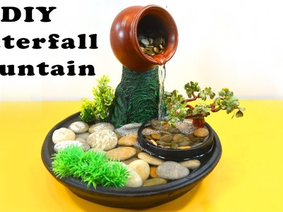 How to make a Waterfall Fountain - DIY Waterfall Using Plastic Bottle and Newspaper