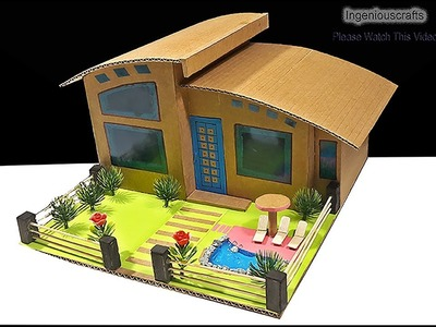 How To Make Beautiful Modern Architecture House With Cardboard DIY Dream House Project