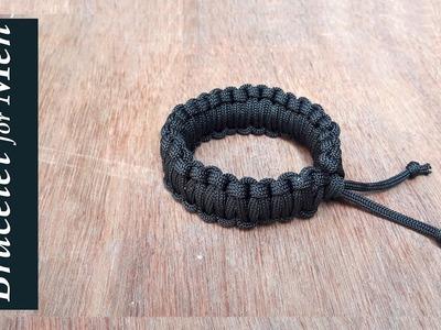 How to make bracelet for boys at home.DIY bracelet for men.Easy Paracord Bracelet.Creation&you