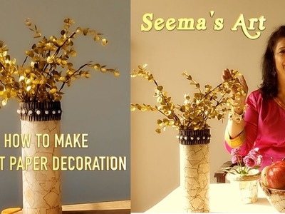 How To Make Burnt Paper Decoration | Innovative DIY