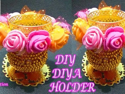 How to make diya holder.DIY decorative diya holder