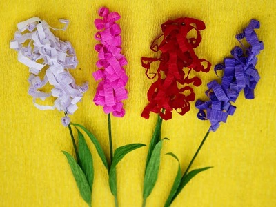 How to make easy & cool flower sticks from crepe paper || DIY Room Decor || Art Of Learning ||
