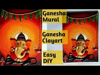 How to make Ganesha Mural. DIY Ganesha Clayart Mural for beginners #muralart #3Dmural #WallArt