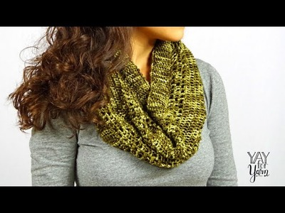 How to Make the Dots & Dashes Cowl - FREE Crochet Pattern | Yay For Yarn