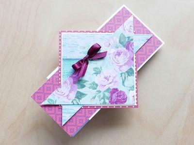 How to make : Unique Greeting Card | Wyjątkowa Kartka Okolicznościowa - Mishellka #308 DIY