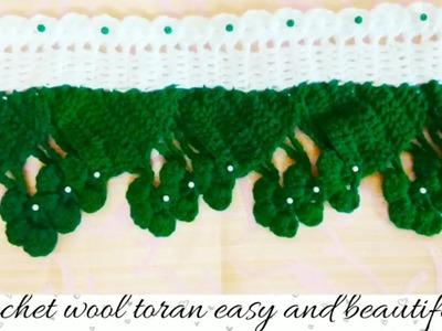 How to make wool toran for home decoration.crochet toran, Door Hanging.door latkan