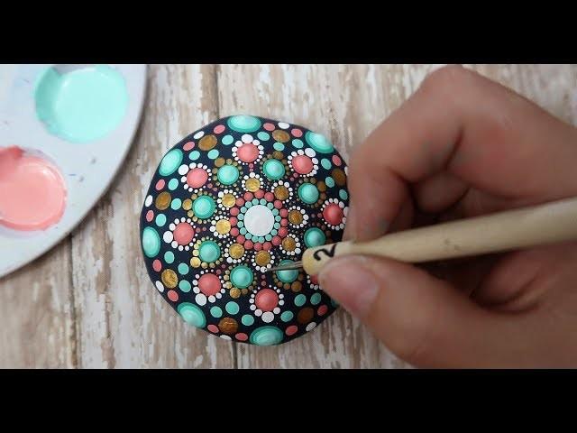 How To Paint Dot Mandalas VERY BEGINNERS STONE Handmade