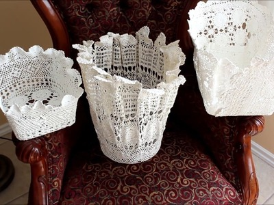 How to reuse your scrap crochet doilies by making baskets