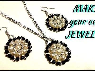 Jewelry making tutorial. Beaded jewelry set. Diy earrings. Diy necklace