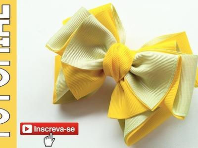 Laço Camila ???? Ribbon Bow Tutorial ???? DIY by Elysia Handmade
