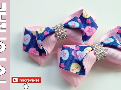Laço Fanny Fita N5 ???? Ribbon Bow Tutorial ???? DIY by Elysia Handmade