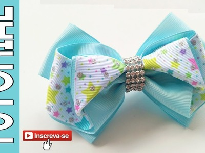 Laço Fanny Fita N9 ???? Ribbon Bow Tutorial ???? DIY by Elysia Handmade