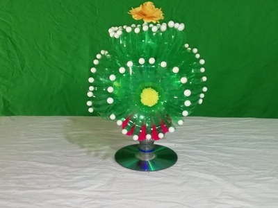 Make Beautiful Flower with plastic || DIY:New Design Woolen Guldasta || Empty plastic bottle flower