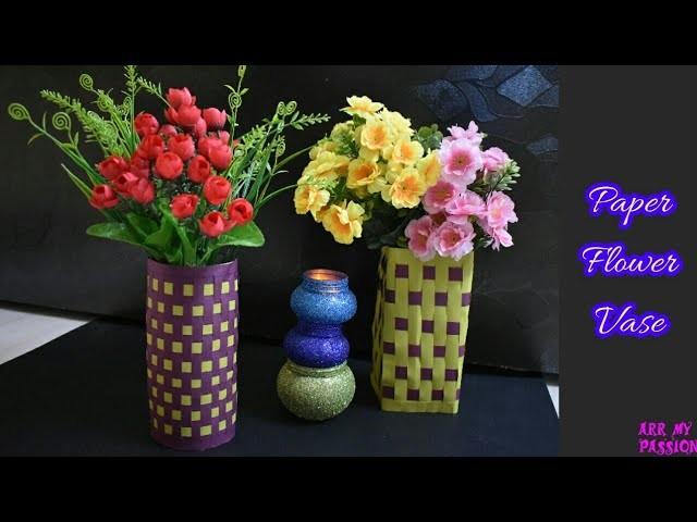 Making Paper Flower Vase   How to Make a Paper Vase   DIY Paper Vase   artmypassion