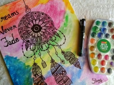 Mandala Dreamcatcher For Beginners   DIY Canvas Art   Speed Tutorial