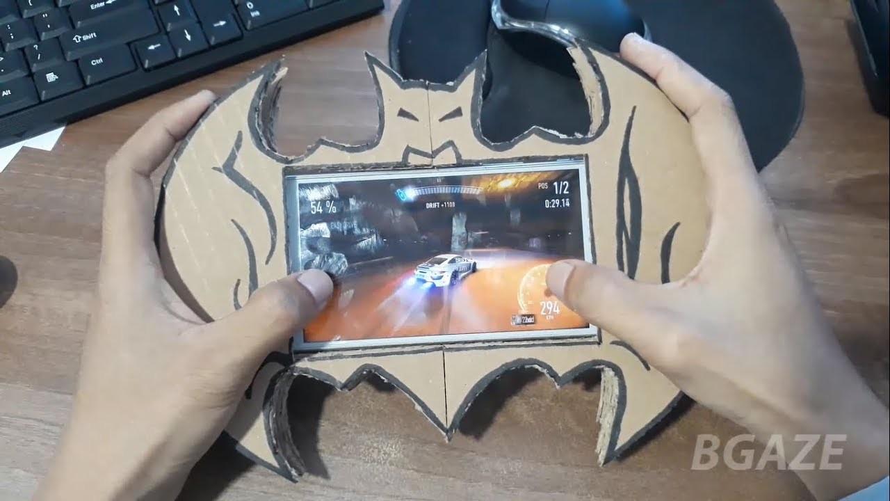 Membuat Gamepad BATMAN Dari Kardus WOW Keren#DIY How TO make Gamepad Batman From Cardboard