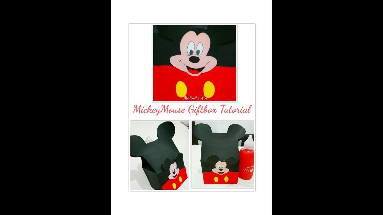 Mickey Mouse Giftbox Tutorial DiY ( Part 2)