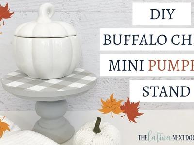 Mini Buffalo Check Stand | Fall Farmhouse DIY | Farmhouse Fall Decor