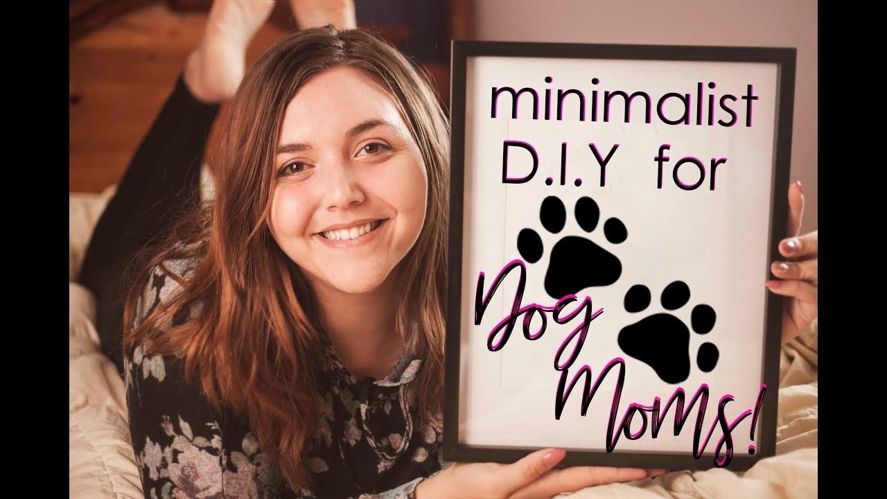 Minimalist Paw Print Painting ???? •DOG MOM DIY• ????