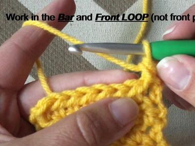 Modified Half Double Crochet Tutorial