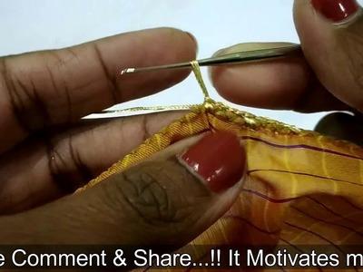 New Krosha Saree Kuchu with Pearls I Crochet Saree Tassels making with Pearls I Ladies Club