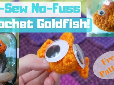 No-Sew No-Fuss Crochet Goldfish Pattern! Clear Tutorial