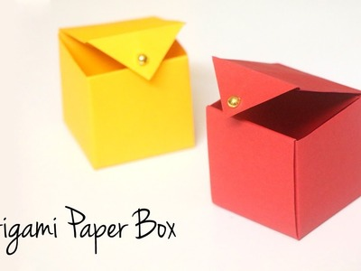 Origami Paper Box that Opens and Closes | DIY Gift Box