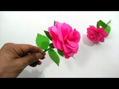 Origami Rose. Paper flowers DIY tutorial easy