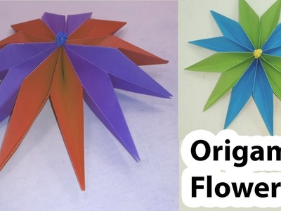 Origami origami pop up card flower christmas day diy crafts origami simple paper flowers diy room decoration wall mightylinksfo
