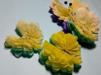 Tutorial money hard like real origami flower 1000 bath thailand paper pompom easy butterfly tissue paper butterfly diy mightylinksfo