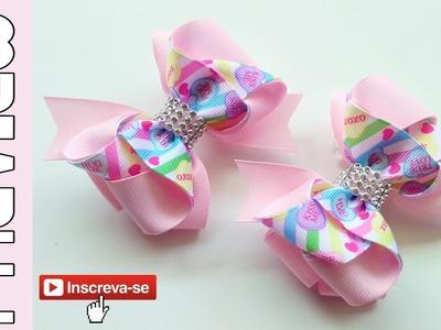 [PREVIEW] Laço Flavia Fita N5 ???? Ribbon Bow ???? DIY by Elysia Handmade
