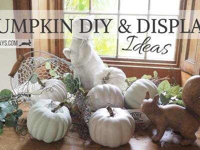 Pumpkin DIY and Display Ideas | Budget Friendly