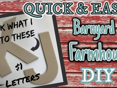 QUICK & EASY Barn Farmhouse Diy using these $1 Letters | Look what I DO to them!!!!!