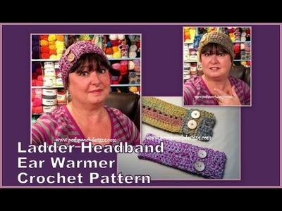 The Ladder Headband Ear Warmer Crochet Pattern