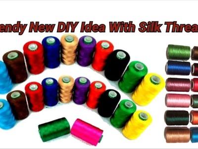 Trendy unique DIY Idea with silk threads