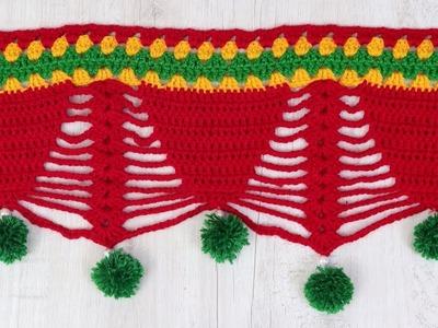 Amazing Crochet Pattern | How to make Door Hanging Toran from Woolen Handmade Door Hanging Toran
