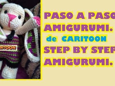 AMIGURUMI Conejo???? Cabeza y rostro paso a paso 2a. Pte. Bunny Crochet Step by Step CARITOON