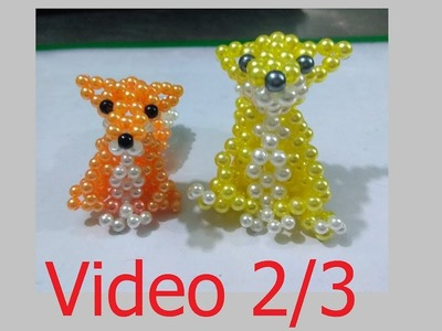 Beads - How to make keychains: fox 2.3 (con cáo)