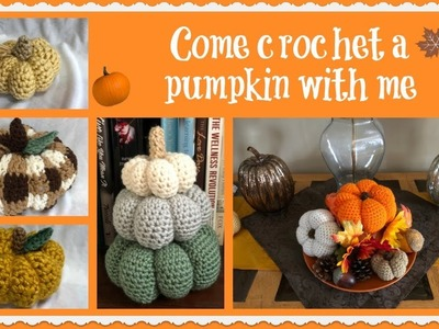 Come crochet a pumpkin with me!!! ????????????????