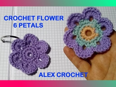 CROCHET FLOWER FOR BABY SWEATER TENDERNESS TUTORIAL ALEX CROCHET