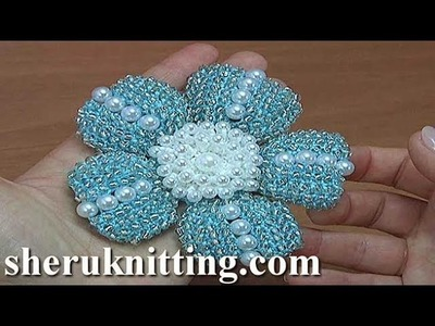 Crochet Flower With Beaded Petals Tutorial 181