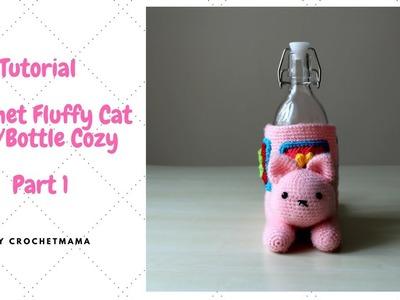 Crochet Fluffy Cat Bottle.Jar Cozy (Part 1 of 2)
